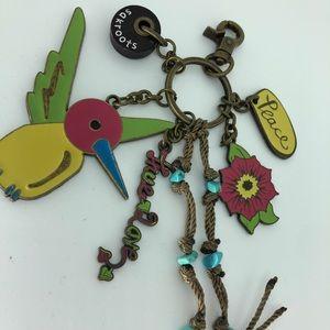 Sakroots Artist Circle Hummingbird Keychain, NWOT
